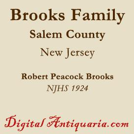 brooks family of salem county (new jersey)