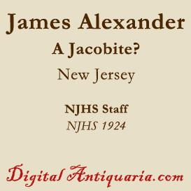 Was James Alexander a Jacobite? | eBooks | History
