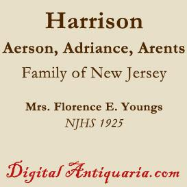 Aerson - Adriance - Arents - Harrison Family | eBooks | History