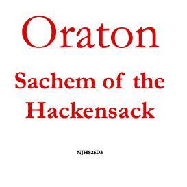oraton, sachem of hackensack