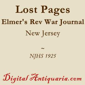 lost pages of elmer's revolutionary journal