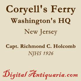 washington's headquarters at coryell's ferry (new jersey)