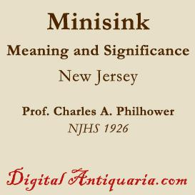 Minisink - Its Meaning and Significance | eBooks | History