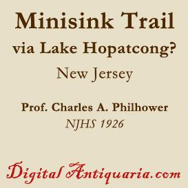 the minisink trail - did it go by way of lake hopatcong?