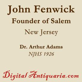 John Fenwick, Founder of Salem (New Jersey) | eBooks | History
