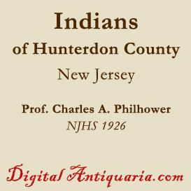 indians of hunterdon county (new jersey)