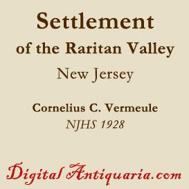 Settlement of the Raritan Valley (New Jersey) | eBooks | History