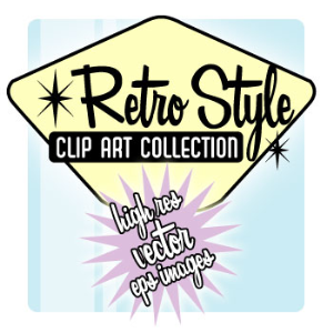 huge retro style clip art collection