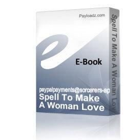 spell to make a woman love you using a poppet