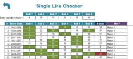 US Mega Millions Results Checker Premium Excel xls Spreadsheet | Documents and Forms | Spreadsheets