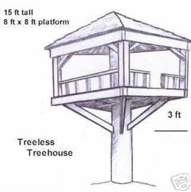Plans to build a treeless treehouse | eBooks | Home and Garden