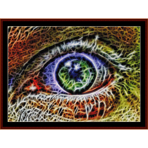 fractal 223 cross stitch pattern by cross stitch collectibles
