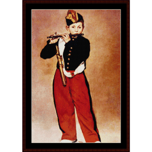 the fifer - manet cross stitch pattern by cross stitch collectibles
