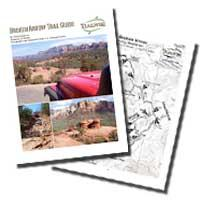 broken arrow sedona arizona 4x4 jeep trail guide and map color printab
