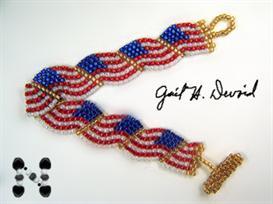usa wavy flag bracelet pattern