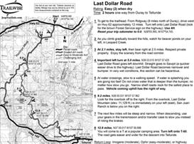 Last Dollar Road Colorado Jeep Trail Map BW printable .pdf | eBooks | Outdoors and Nature