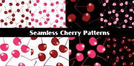 cherry seamless patterns