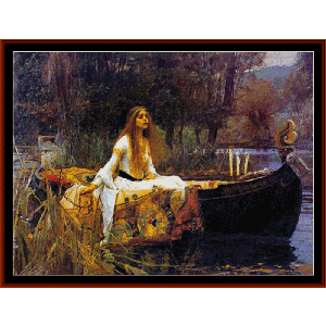 lady of shallot ii - waterhouse cross stitch pattern by cross stitch collectibles