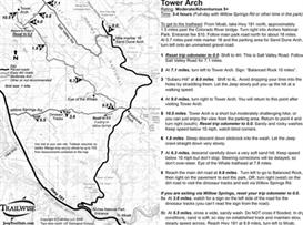 tower arch moab utah arches natl park 4x4 jeep trail map bw printable