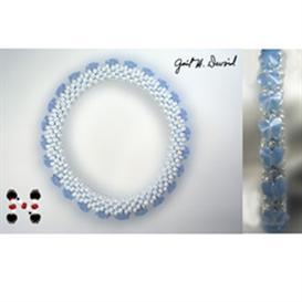 karner blue butterfly bead crochet bracelet