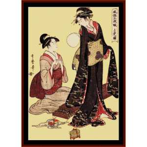 upper class - asian art cross stitch pattern by cross stitch collectibles