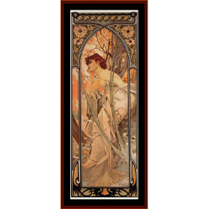 Evening Reverie - Mucha cross stitch pattern by Cross Stitch Collectibles | Crafting | Cross-Stitch | Wall Hangings