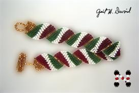 wavy flag bracelet-italy