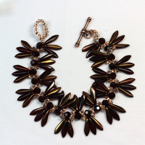 First Additional product image for - Copper Dagger and Farfalle Butterfly Seed Bead Bracelet Pattern