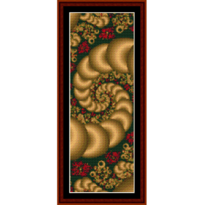 fractal 101 bookmark cross stitch pattern by cross stitch collectibles