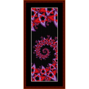 fractal 195 bookmark cross stitch pattern by cross stitch collectibles