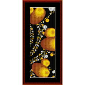 fractal 108 bookmark cross stitch pattern by cross stitch collectibles
