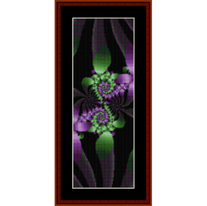 fractal 161 bookmark cross stitch pattern by cross stitch collectibles