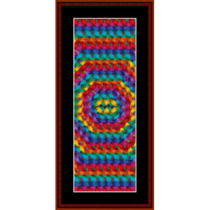 fractal 148 bookmark cross stitch pattern by cross stitch collectibles