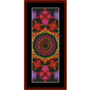 fractal 117 bookmark cross stitch pattern by cross stitch collectibles