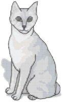 grey cat cross stitch pattern