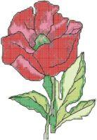 Poppy Cross Stitch Pattern | eBooks | Arts and Crafts
