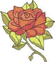 Rose Cross Stitch Pattern | eBooks | Arts and Crafts