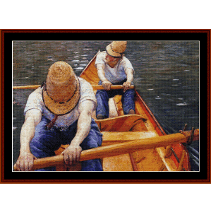 Oarsmen - Caillebotte cross stitch pattern by Cross Stitch Collectibles | Crafting | Cross-Stitch | Other