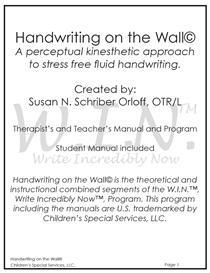 Handwriting on the Wall Program | eBooks | Education