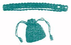 drawstring purse & matching belt crochet pattern