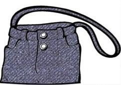 Blue Jean Purse Pattern | eBooks | Arts and Crafts