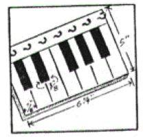piano key holder instructions