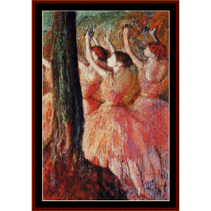 pink dancers - degas cross stitch pattern by cross stitch collectibles