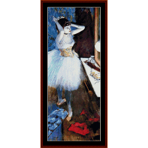 in the dressing room i - degas cross stitch pattern by cross stitch collectibles