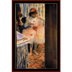 in the dressing room ii - degas cross stitch pattern by cross stitch collectibles