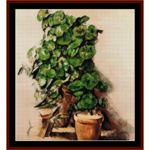 pots of geraniums - cezanne cross stitch pattern by cross stitch collectibles