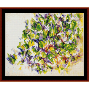 foliage - cezanne cross stitch pattern by cross stitch collectibles