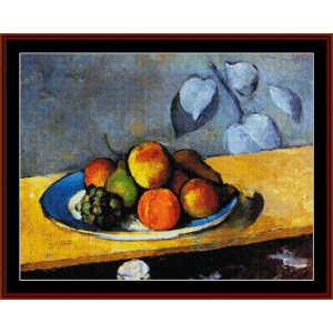 Still Life - Cezanne cross stitch pattern by Cross Stitch Collectibles | Crafting | Cross-Stitch | Wall Hangings