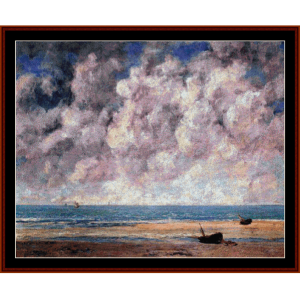 the calm sea - courbet cross stitch pattern by cross stitch collectibles