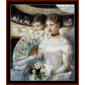 the loge - cassatt cross stitch pattern by cross stitch collectibles